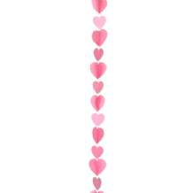 Balloon Tails - Pink Hearts Balloon Tail (1.2m) 1pc